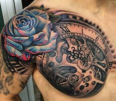 Cool Shoulder Tattoos For Men - Compass #tattoosformenmeaningful