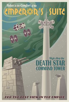 Star Wars Travel poster by Steve Thomas