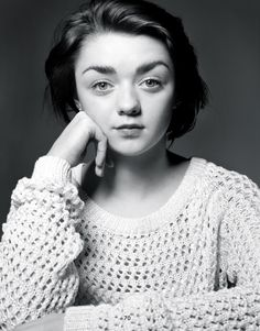 Maisie Williams; a child actor with so much depth.  Known for her role as Aria Stark in HBO's Game of Thrones