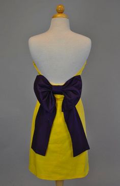 The Paige Gameday Dress {purple/gold} ........ECU!