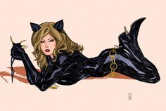 contempary catwoman deviant | Catwoman Color Print by Dave-Acosta