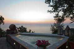Exclusive seafront Amalfi Coast villa with pool and sea views