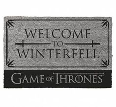 Game Of Thrones Welcome To Winterfell Door Mat
