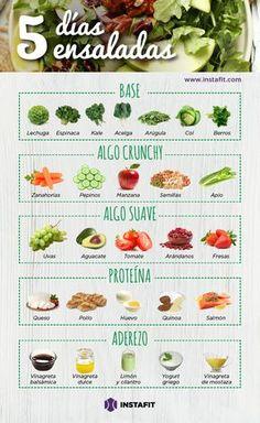 El reto real de las ensaladas deliciosas que te ayudarán a perder tallas y peso ♥