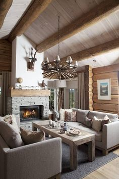 Dining Table, Cabin, Living Room, Stove, Interior, House, Furniture, Home Decor, Decoration Home