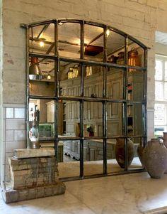 grand miroir fenetre pour déco murale