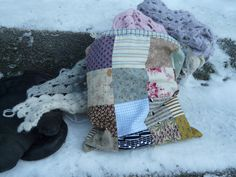 P1040780 | Cold day. Mittens. Patchwork bag and crochet shaw… | Flickr