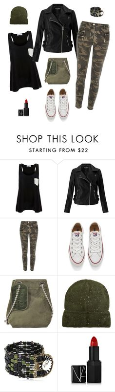 Converse camo by siostranocy on Polyvore featuring moda, Solid & Striped, Miss Selfridge, River Island, Converse, Maison Margiela, Ziio, MANGO and NARS Cosmetics