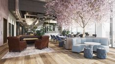 It's the pink blossom tree that does it for us! Our interior render of 'The Lennox Building' in Portobello, Dublin. Software used: - + - 3d Design, Urban Design, Reclaimed Oak Flooring, Camden Street, Pink Blossom Tree, Dublin City, Interior Rendering, Polished Concrete, Rooftop Terrace