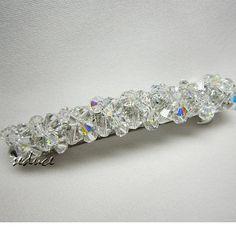 Bridal Hair Barrette Swarovski Crystal Cluster