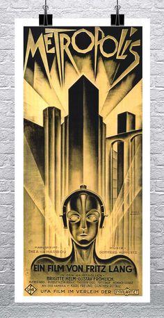 Metropolis Poster, Metropolis 1927, Metropolis Fritz Lang, Best Movie Posters, Cool Posters, Art Deco Posters, Vintage Posters, Sci Fi Movies, Good Movies