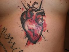 anatomical heart tattoo (artist ?)