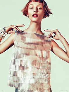 TrendedWeekly: Daga Ziober by Sebastian Kim for Vogue Germany