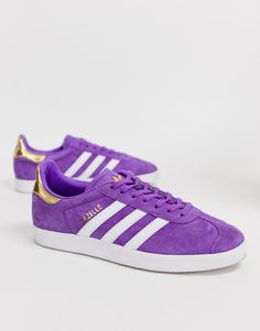 outlet store f9244 13358 adidas Originals – TFL Gazelle – Lila och vita sneakers