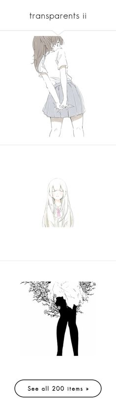 """""""transparents ii"""" by illumi-naughty ❤ liked on Polyvore featuring anime, fillers, manga, art, pics, filler, render, fillers - pink, anime girl and vocaloid"""