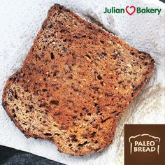 Almond Paleo Bread By Julian Bakery is Gluten Free, Grain Free, GMO Free, Low Carb, and Keto! 1 Slice= 60 Calories, 1 Net Carb, 6g Total Carbs Less 5g Fiber! Put bread back on the menu with our Paleo Bread that also come in Coconut, Honey, and Cinn Raisin. More Info: http://www.julianbakery.com/paleo-bread