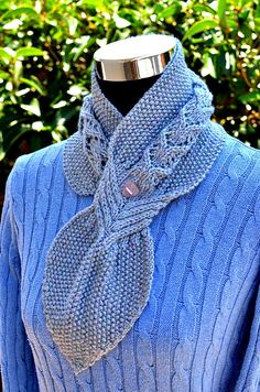 Ravelry: Banyan Leaf Scarf pattern by Christy Hills Knit Cowl, Knitted Shawls, Crochet Shawl, How To Make Scarf, Knitting Accessories, Bead Crochet, Knitting Stitches, Shawls And Wraps, Ponchos
