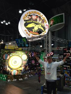 I think Johnny is ready for tomorrow! #toyfair2014