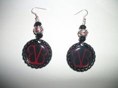 Black Veil Brides Bottle Cap Earrings with by NocturnalFashions, $8.00