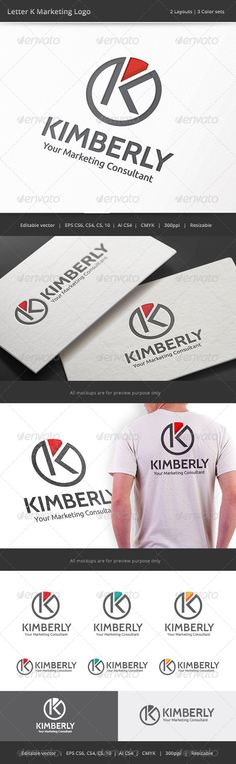 Kimberly Marketing Letter K Logo — Vector EPS #stock #corporate • Available here → https://graphicriver.net/item/kimberly-marketing-letter-k-logo/8317312?ref=pxcr