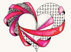 the fiber lounge : Diva Challenge Happy Valentine Zentangle Tangle Doodle, Tangle Art, Zen Doodle, Doodle Art, Zentangle Drawings, Doodles Zentangles, Zentangle Patterns, Doodle Drawings, Heart Doodle
