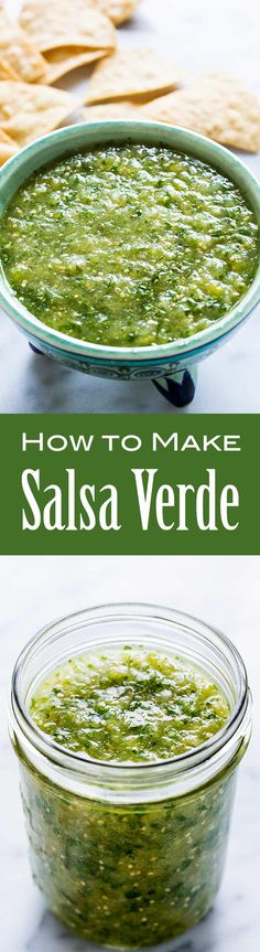 3 easy ways to make tomatillo salsa verde! A delicious Mexican green salsa made with roasted tomatillos, chile peppers, lime juice, cilantro, and onion. Mexican Dishes, Mexican Food Recipes, Diet Recipes, Cooking Recipes, Healthy Recipes, Mexican Spice, Recipies, Tomatillo Salsa Verde, Salsa Verde Recipe
