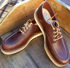 BRAND NEW - Red Wing Heritage Moc Toe Mahogany Oxfords - 13 D - MSRP $250 #RedWing #Oxfords
