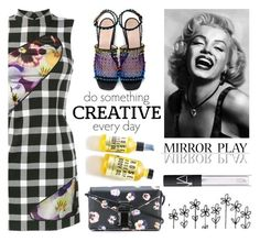 """""""Gingham"""" by sukia ❤ liked on Polyvore featuring Christopher Kane, WALL and NARS Cosmetics"""