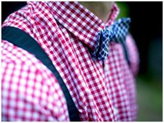 Bow Tie - Gingham Check & Braces