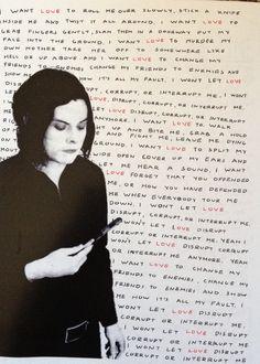 Small Jack White Love Interruption lyrics poster