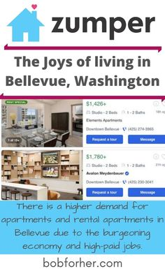 There is a higher demand for apartments and rental apartments in Bellevue due to the burgeoning economy and high-paid jobs. The Zumper network reaches millions of tenants. Filter by location, price range, pet-friendliness, and set a notification when a new listing is published. #rentapartment #bellevue #washington #liveinbellevue #apartmentsforrent