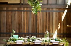 Emerald Botanical Beach Wedding Inspiration, styled by Simply by Tamara Nicole, Courtney Bowlden Photography, Bash & Bloom florals, Rented Elegance Rentals, Venue: Cast Iron Studios.