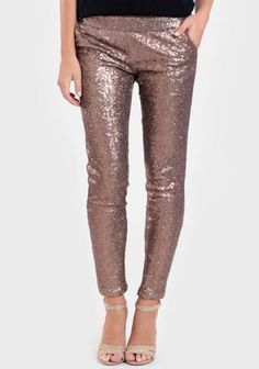 bronze sequin leggings I really wanted these but shopruche sold out of small in like 12 hours