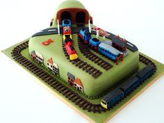 What three year old boy wouldn't want a birthday cake like this?