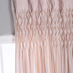 With Refined Smocking At The Top, The Dainty Organic Linen Curtain Panel  Adds A Unique