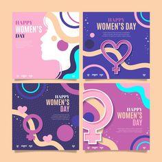 Happy International Women's Day, Instagram Feed, Instagram Posts, Woman Illustration, Instagram Post Template, Happy Women, Social Media Design, Ladies Day, Banner Design