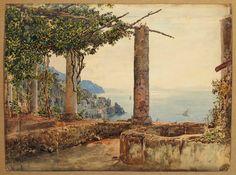 Rudolf von Alts Ansicht der Amalfi-Küste