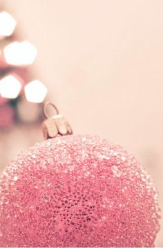 Pink Christmas Decoration ★ Find more seasonal + Noel Christmas, Pink Christmas, Christmas Colors, All Things Christmas, Winter Christmas, Christmas Bulbs, Christmas Decorations, Whimsical Christmas, Christmas Ornament