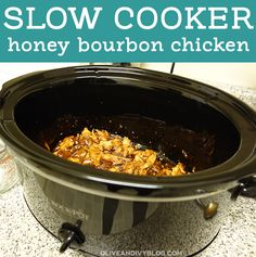 slow cooker honey bourbon chicken recipe