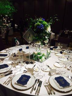 幼馴染wedding の画像|Wedding &Party Designerの黒沢祐子 Wedding Table Centerpieces, Wedding Decorations, Table Decorations, Blue Wedding, Wedding Colors, Trendy Wedding, Wedding Ideas, Table Flowers, Wedding Coordinator
