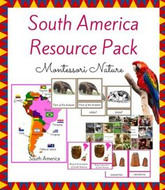 South America Resource Pack is a great addition to the Continent Boxes in the Montessori Classroom.It contains: *6 Introduction to South America Picture Cards*Flag Matching Printable + Control Cards Printable*Outline and Country Map of South America*Insects / Birds / Mammals of South America Sorting Activity Printable with Control Card*Parts of the Anteater 3-Part Cards*Musical Instruments of South America 3-Part CardsI also invite you to check out North America Resource Pack:NORTH AMERICA…