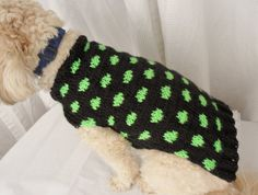 I make sweaters for dogs. My friends call this the space invader sweater ;)