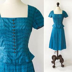 vintage dirndl set  vintage German dirndl by SteeleHollowVintage