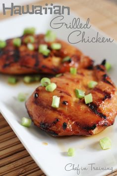 Hawaiian Grilled Chicken!  This marinade is absolutely mouthwatering! http://www.chef-in-training.com/2012/06/hawaiian-grilled-chicken/  #chicken #grill #hawaiian