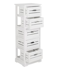 Take a look at this Cream Bennett Five-Drawer Cabinet on zulily today!