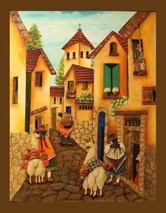 0 Canvas Painting Projects, Clay Art Projects, Canvas Art, Mexican Paintings, Mini Paintings, Brazil Art, Peruvian Art, Straw Art, Stained Glass Quilt