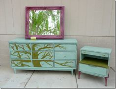 How to start upcycling furniture (DO IT! It saves LOADS of money and you always get it to look how you want! 2 parts to this.--NOTHING THERE, but I want to remember the color and theme ideas Furniture Projects, Furniture Makeover, Home Projects, Home Furniture, Furniture Refinishing, Repurposed Furniture, Painted Furniture, Painted Dressers, Palette