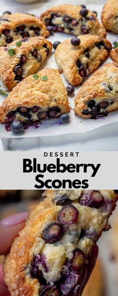 Blueberry Scones are one of our favorite treats! Serve them for breakfast or brunch, or pack as a school snack they're always a hit around our house! #breakfast #dessert #scones #breakfastrecipe #dessertrecipe #sconesrecipe #blueberrysconesrecipe #blueberrydessert #sweetrecipe #deliciousrecipe Egg Recipes For Breakfast, Breakfast Pastries, Quick And Easy Breakfast, Breakfast Dessert, Best Dessert Recipes, Amazing Recipes, Breakfast Ideas, Yummy Recipes, Sweet Recipes