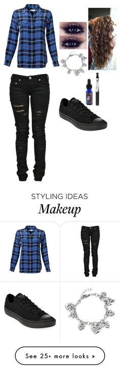 """""""Untitled #460"""" by canderagel on Polyvore featuring Mode, Equipment, Denim of Virtue, Converse und West Coast Jewelry"""