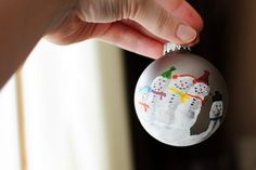Homemade Christmas ornaments by Meet the Dubiens